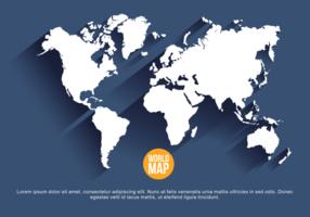 Bleu marine Mapa Mundi Vector Illustration