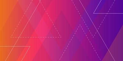 modèle de formes de polygone dégradé moderne