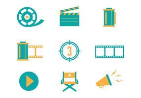 Free Cinema et film icônes vectorielles vecteur