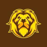 conception de lion jaune vecteur