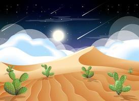 désert avec montagnes de sable et cactus vecteur
