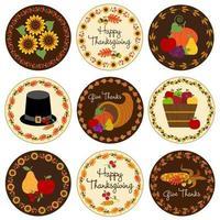 emblèmes du cercle de Thanksgiving