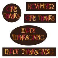 graphiques de typographie de Thanksgiving