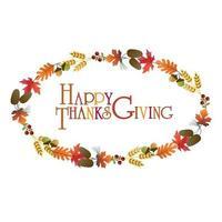 graphique de couronne de Thanksgiving
