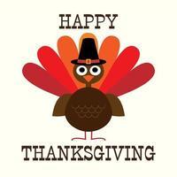 dinde de Thanksgiving avec chapeau de pèlerin