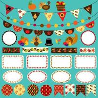 Thanksgiving banderoles, étiquettes