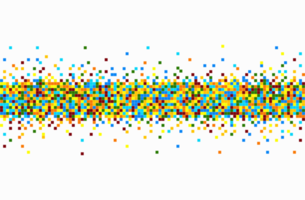 motif de pixels colorés vecteur
