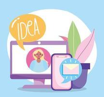 composition de concept de créativité et de technologie