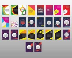 collection de modèles de couverture de conception abstraite moderne
