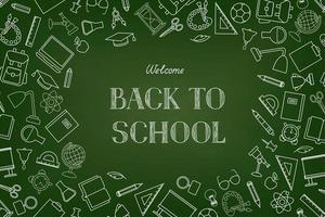 Bienvenue au fond d'écran du tableau de l'école