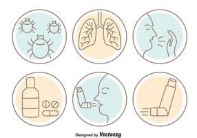 Asthme Icône Vecteurs