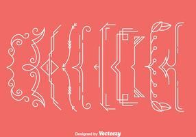 Ornement Bracket Vecteurs vecteur