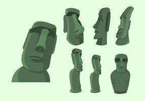 Île de Pâques Statue Illustration Vecteur