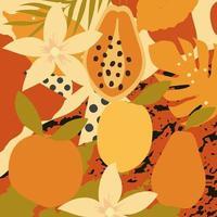 fond d'affiche de feuilles colorées