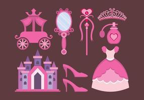 Princesa design elements vecteur