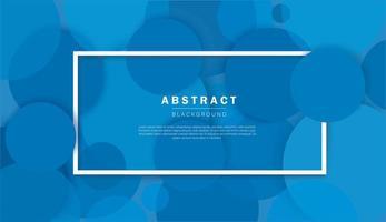 fond bleu abstrait avec des cercles vecteur