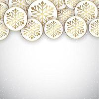 conception élégante de flocons de neige de noël vecteur