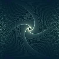 conception d'art abstrait en ligne en spirale vecteur