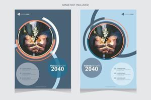 couvertures de rapport annuel de conception de cercle bleu