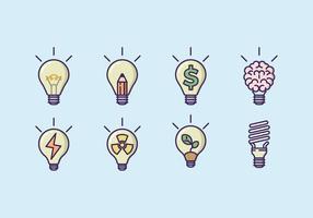 Lightbulb Concept Icon Set vecteur