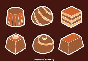 Vecteurs de sucrerie de chocolat vecteur