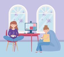 jeunes femmes buvant du café à la maison