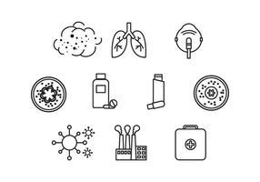 Asthme gratuit Icône Vecteur