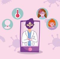rendez-vous chez le médecin en ligne via smartphone