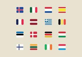 Drapeaux européens vecteur