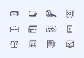 Outline Finance Icône vecteur