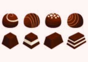 Ensemble de vecteurs de chocolat