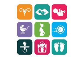 Maternité icônes vectorielles vecteur