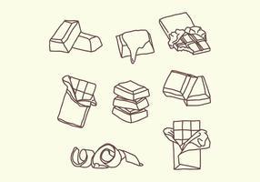 Doodles de chocolat vecteur
