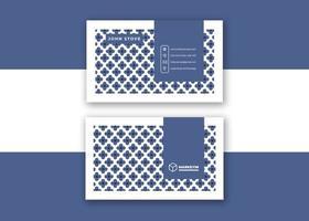 conception élégante de carte de visite bleue et blanche vecteur