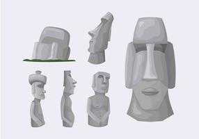 Île de Pâques Statue en pierre Illustration Vecteur
