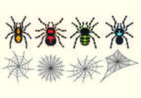 Set Of Tarantuala Vecteurs vecteur