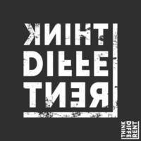 impression de t-shirt en détresse think different