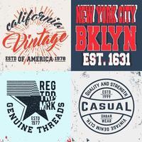 ensemble d'imprimés design vintage pour t-shirts vecteur