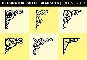 Decorative Supports de tablettes vecteur libre