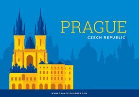 Gratuit Prague Template Vecteur