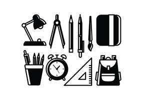 Free School Supplies Vecteurs vecteur