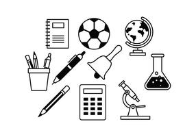 Vecteurs d'icônes d'étudiants gratuit vecteur