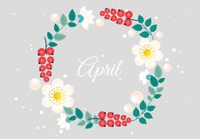 Flower Free Wreath Vector Typographie