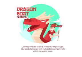 Dragon Boat Festival Fond vecteur