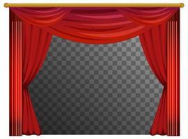 rideaux rouges avec fond transparent vecteur