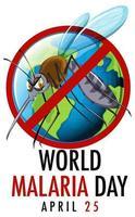 bannière verticale de la journée mondiale du paludisme