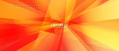 polygone orange multicolore abstrait géométrique vecteur