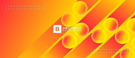 fond abstrait dégradé fluide orange vecteur