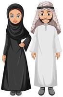 couple arabe adulte portant des vêtements arabes