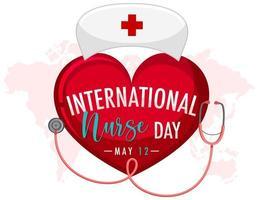 conception de la journée internationale des infirmières vecteur